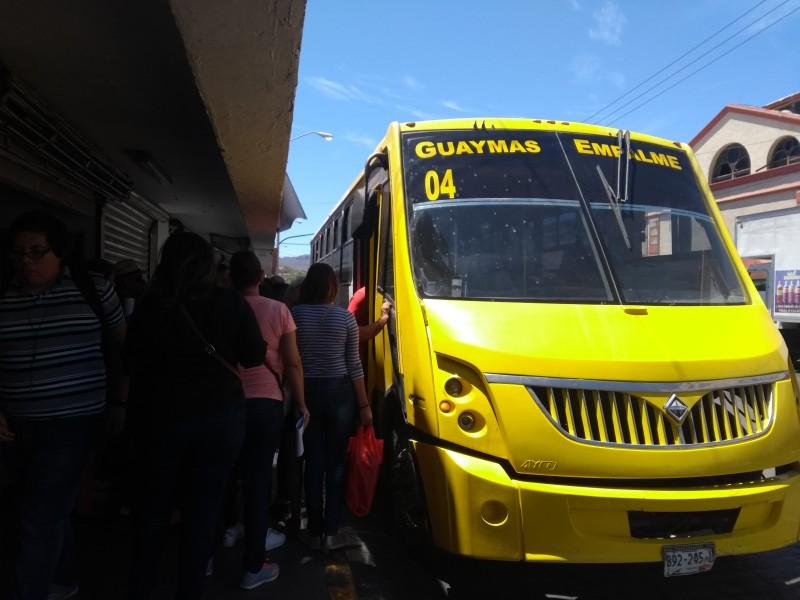 Denuncian camiones Guaymas Empalme por no prender aire