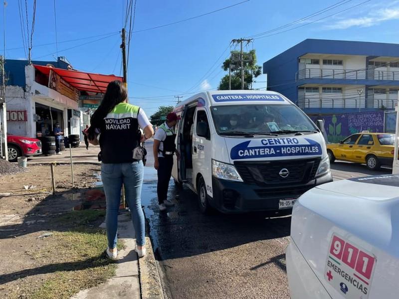 Denuncian choferes de la ruta Cantera-Hospitales a secretario de movilidad