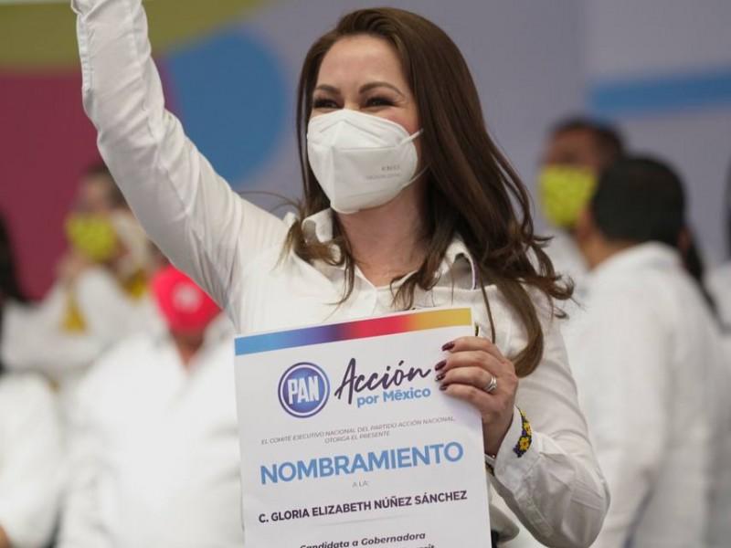 Denuncian gran aglomeración de personas en mitin de Gloria Nuñez