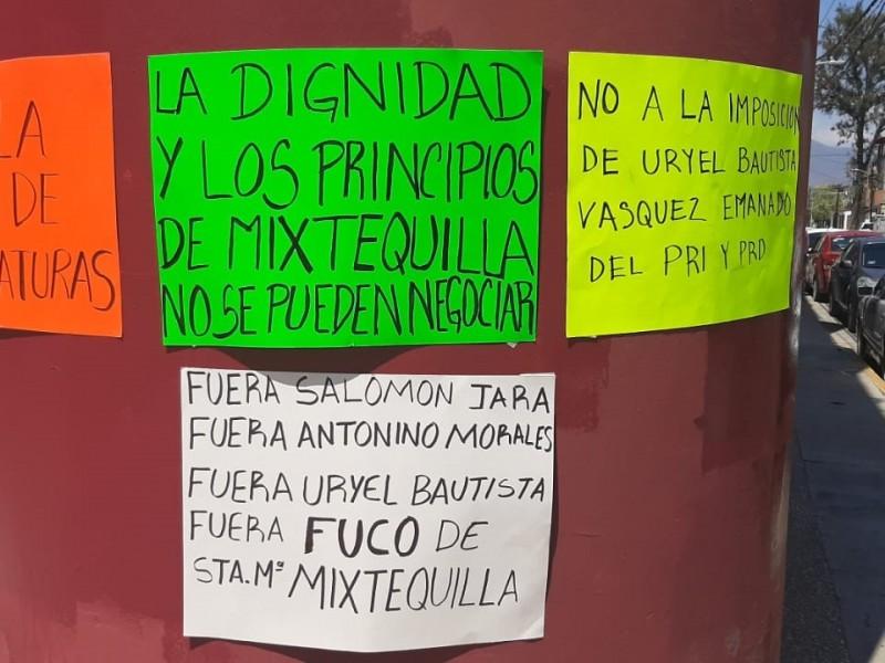 Denuncian imposición de candidato ajeno al partido MORENA en Mixtequilla