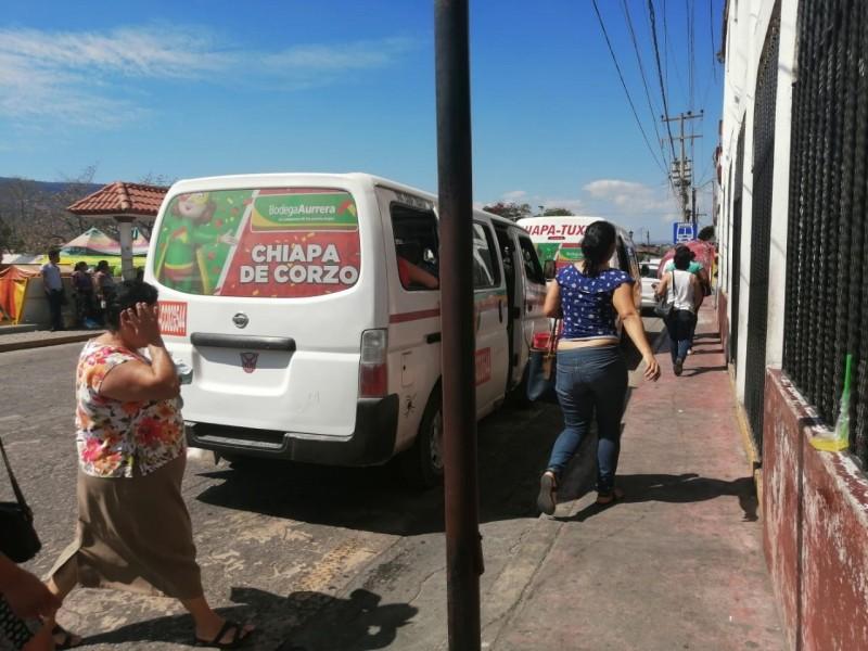 Denuncian incremento del pasaje ruta TGZ-Chiapa