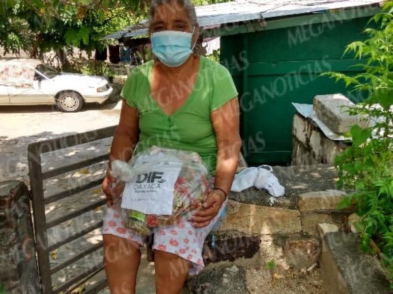 Denuncian irregularidades en entrega de despensas en Salina Cruz