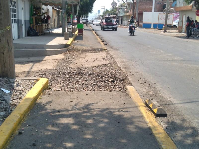 Denuncian pésimas condiciones de ciclovía ubicada al poniente de Zamora