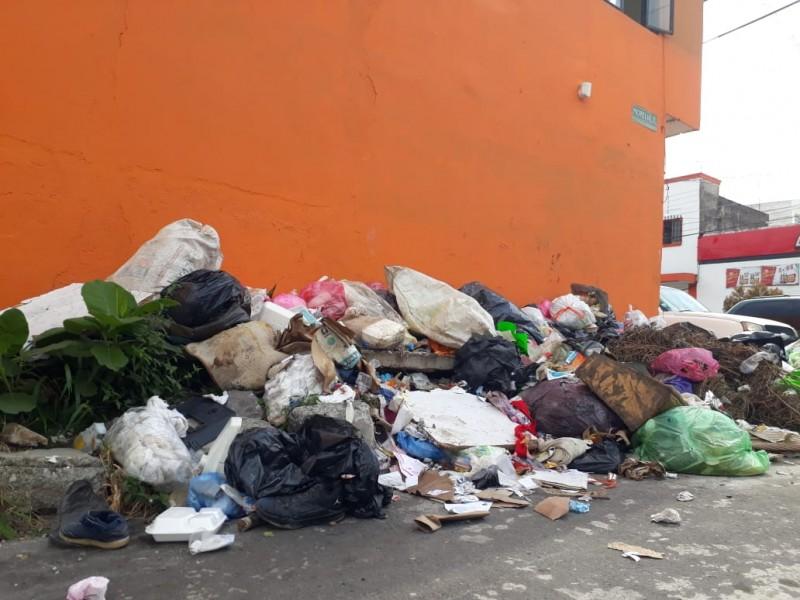 Denuncian vecinos de colonia Centro misión en recolección de desechos