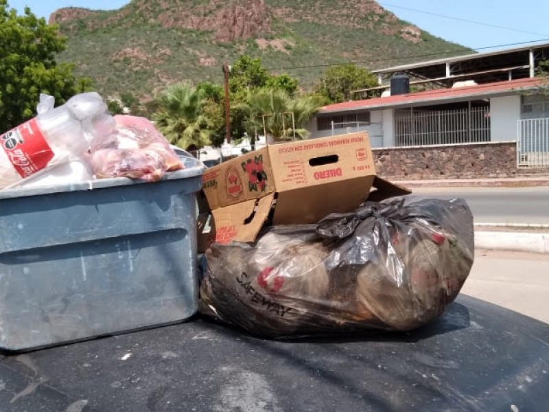 Denuncian vecinos de San Vicente rezago en recolección de basura