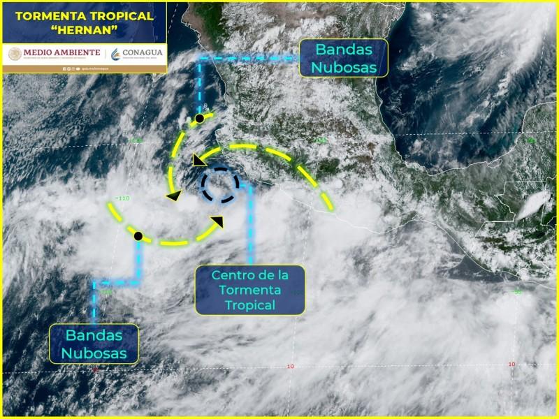 Depresión tropical Trece-E se intensificó a tormenta tropical