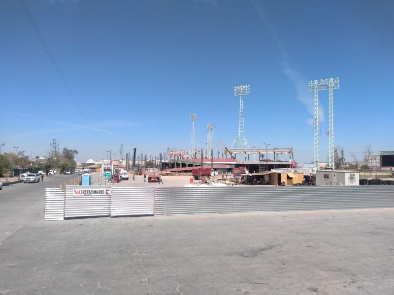 Derrumban mayoría del estadio Héctor Espino