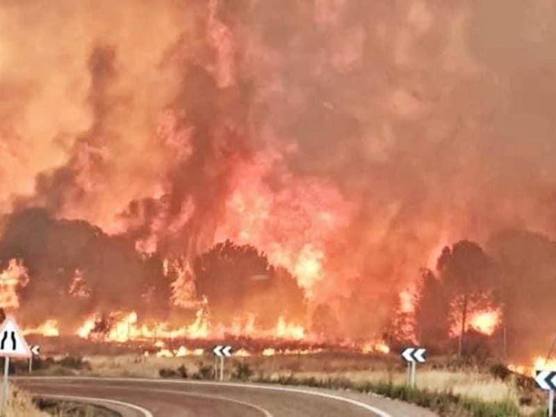 Desalojan a 3500 personas por incendios en España