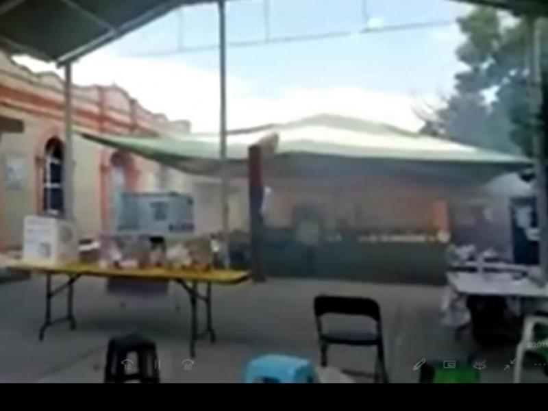 Desalojan casilla por ataque con bomba de gas lacrimógeno