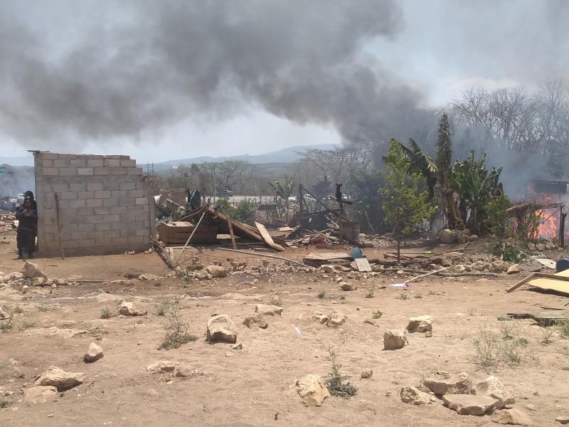 Desalojan invasión de MOCRI en Berriozábal