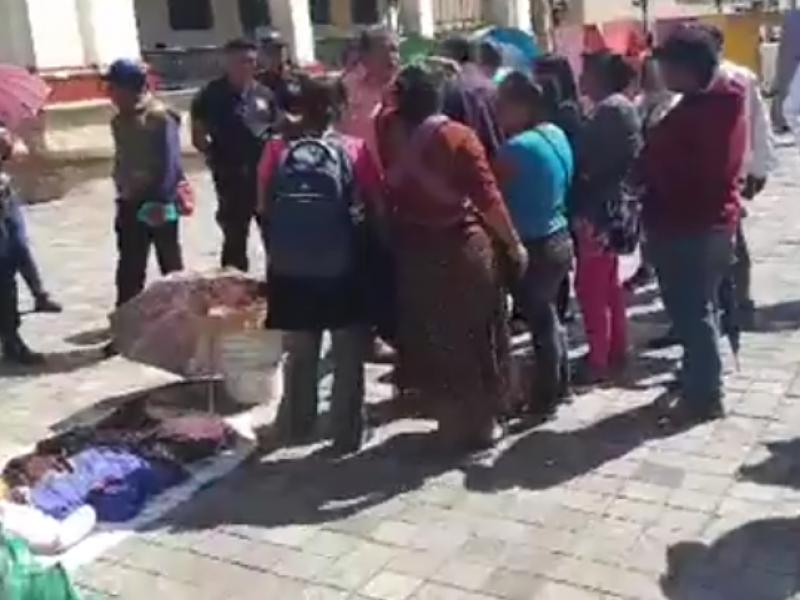 Desalojo de ambulantes en Comitán