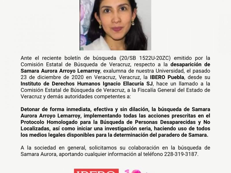 Desaparece en Veracruz, ex estudiante de Ibero, exigen búsqueda exhaustiva