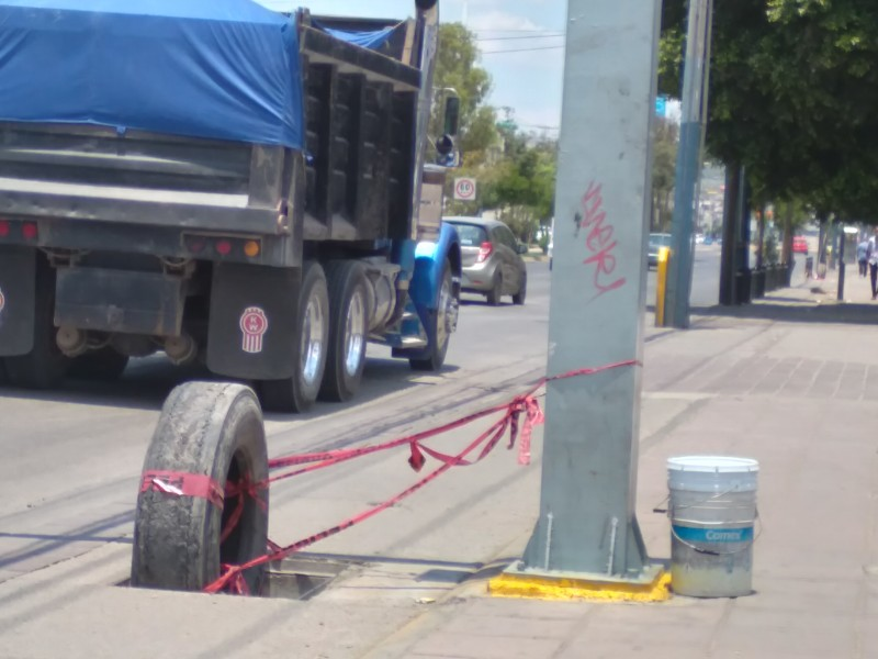 Desaparecen registros sobre bulevar Juan José Torreslanda