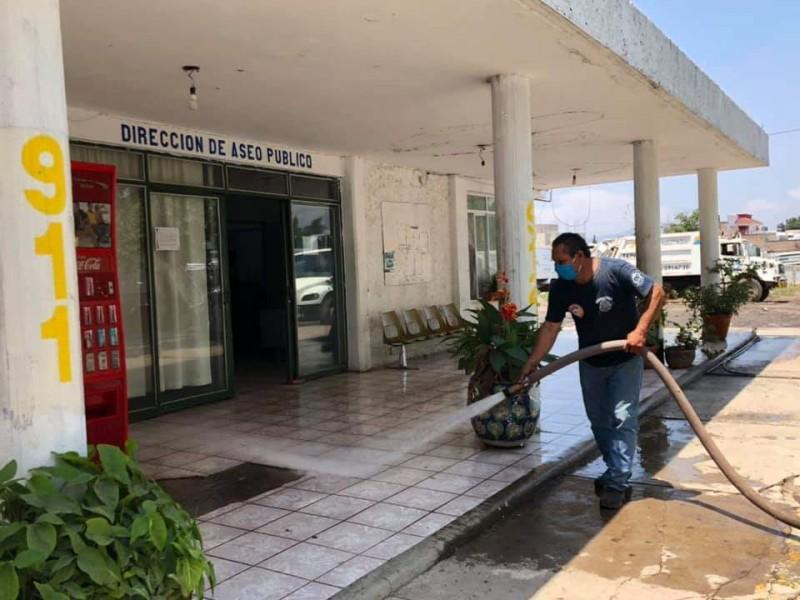 Descartan en Aseo Público contagio de COVID-19 entre sus trabajadores