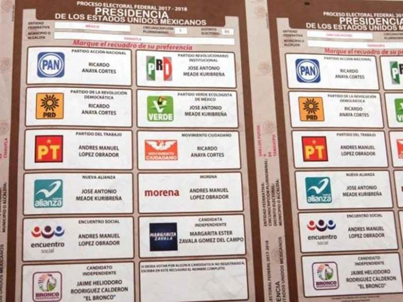 Descartan reimpresión de boletas electorales