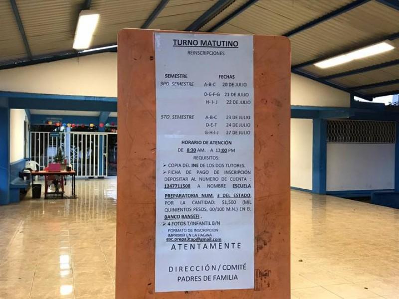 Descontento por cuotas de inscripción en Tapachula