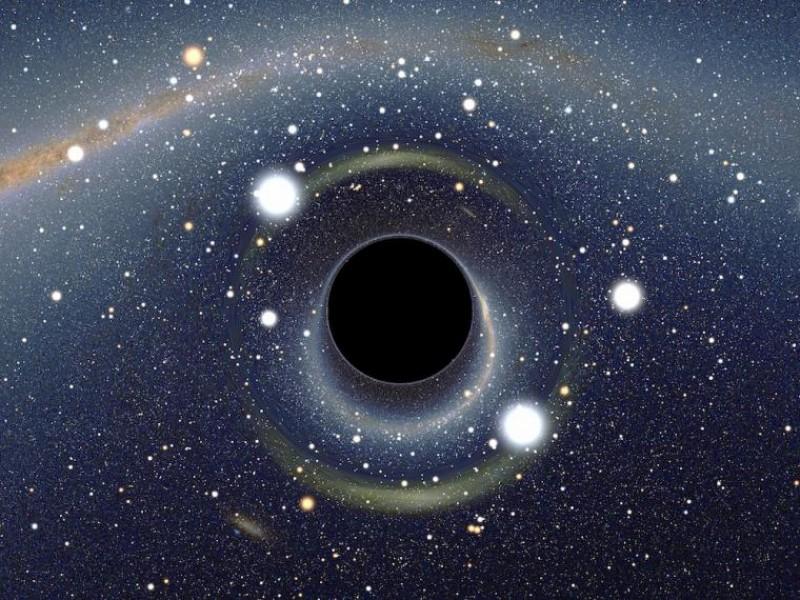 Descubren anillo de agujeros negros