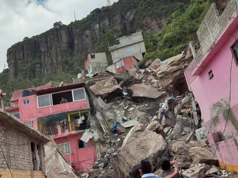 Desesperada búsqueda de sobrevivientes en el Cerro del Chiquihuite