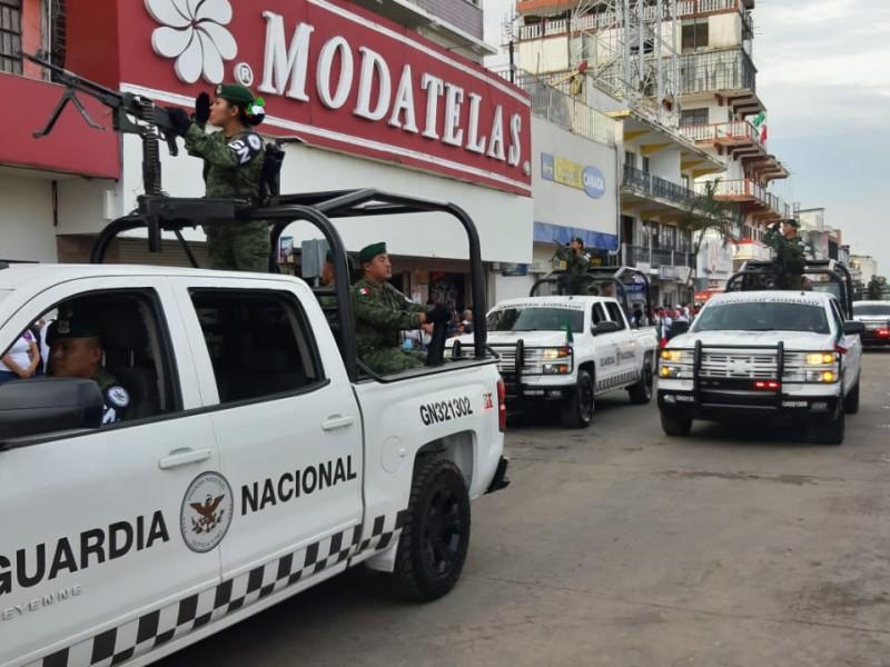 Desfile se realizo sin contratiempos en Tapachula