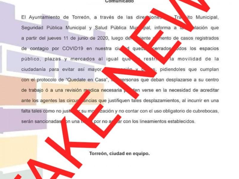 Desmiente alcalde cierre de espacios por avance de Covid-19