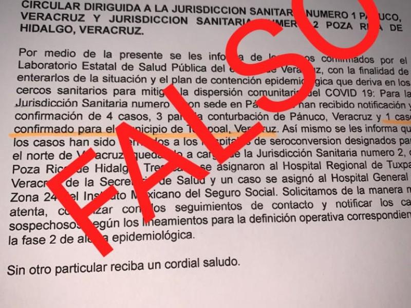Desmienten nuevos casos en Veracruz