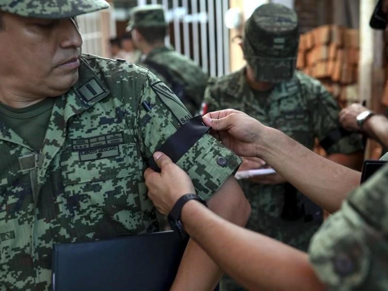 Despiden a militar caído en balacera de Culiacán