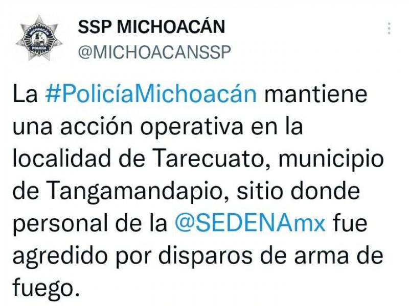 Ataque a elementos de Sedena deja 7 muertos en Tangamandapio