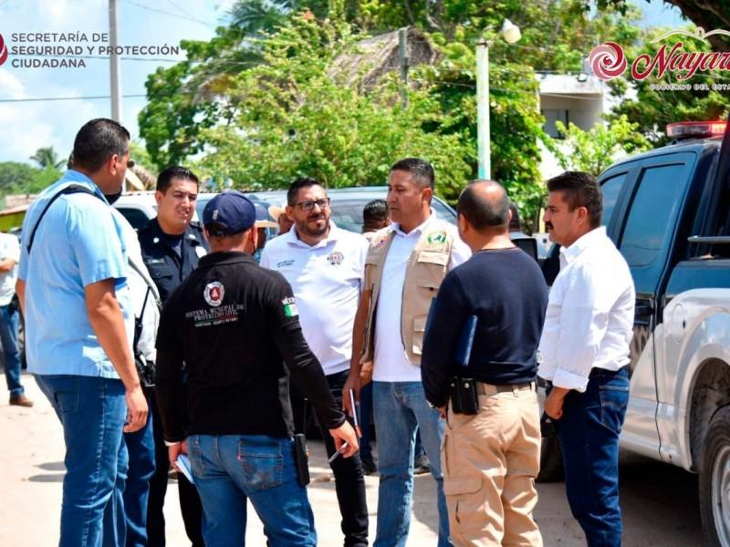 Despliegan operativo de seguridad en zona norte por Huracán Pamela
