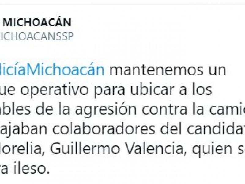 Despliegan operativo para localizar agresores del equipo de Guillermo Valencia