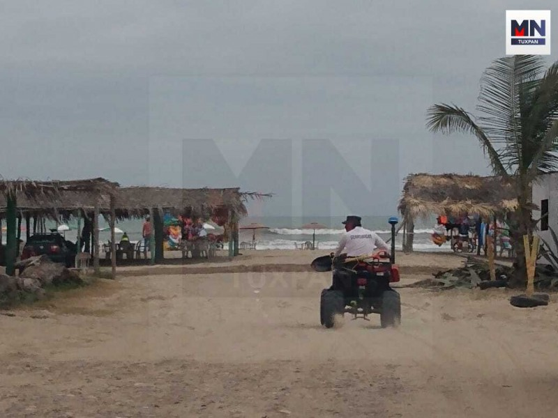 Despliegan seguridad en zona de playa