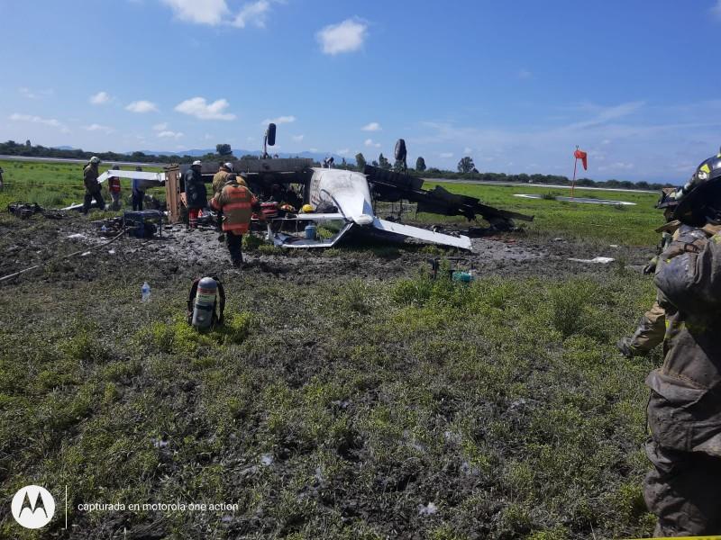 Desploma aeronave en Durango