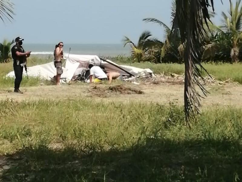 Desplome de Ala delta deja un muerto en Tecolutla