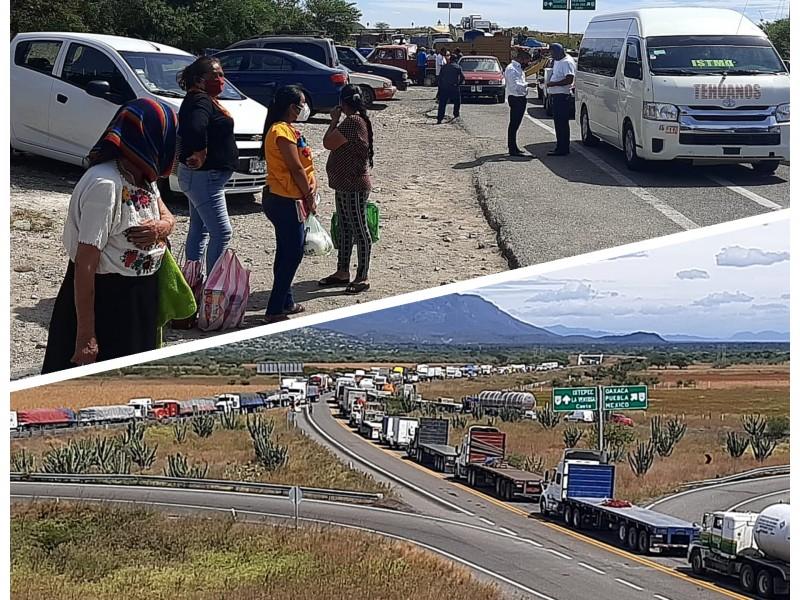 El Istmo de Tehuantepec con tres días de bloqueos carreteros