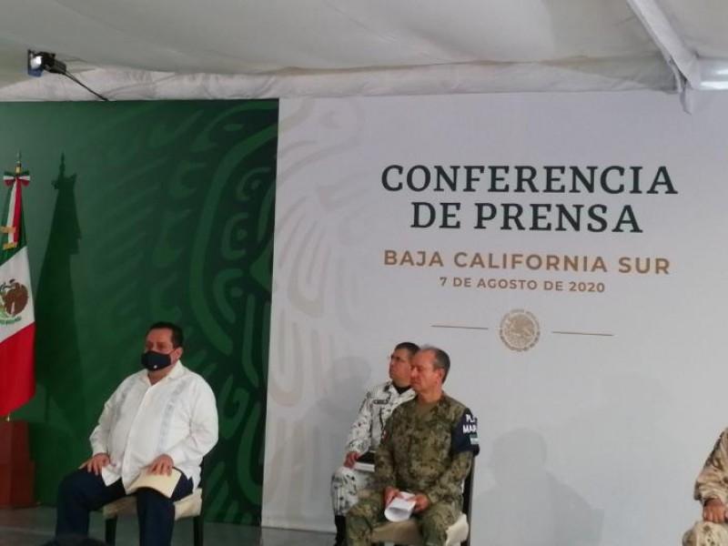 Destaca Presiente López Obrador, trabajo realizado en BCS en seguridad