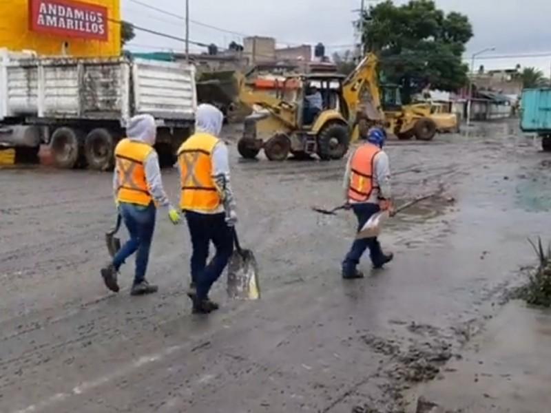 Destapa PC Zapopan boca de tormenta en Miramar ante inundaciones