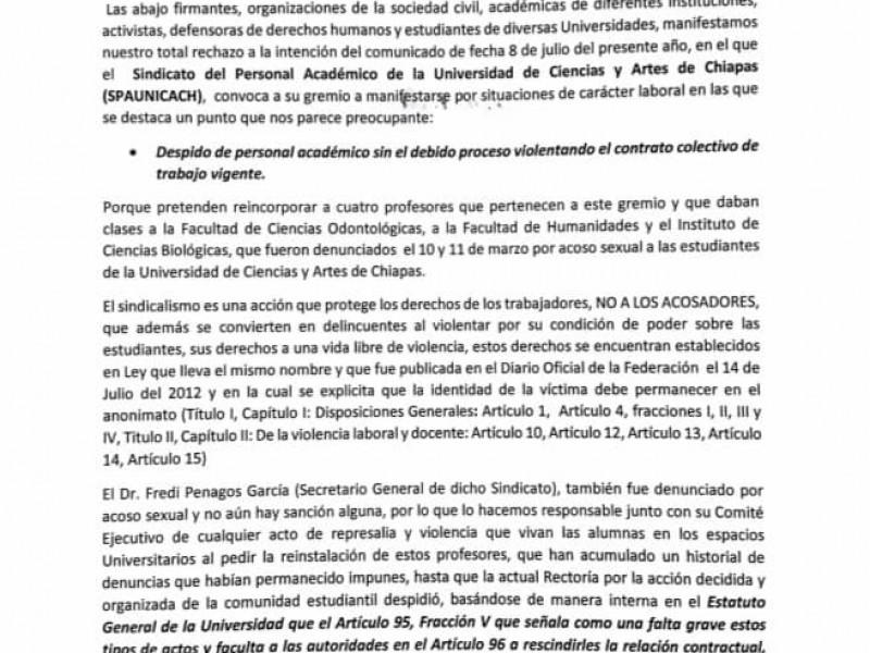 Destapan corrupción de líder sindical del Spaunicach