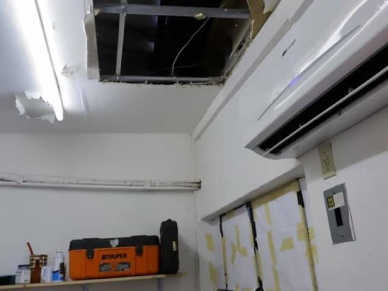 Destrozada la Casa Hogar del DIF en BADEBA
