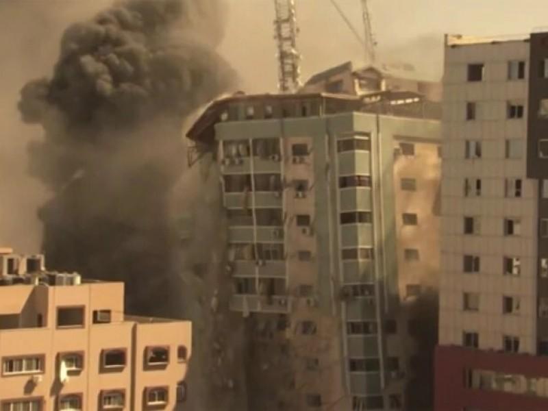 Destruida sede de prensa internacional en Gaza
