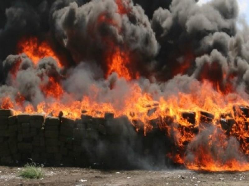 Destruyen piratería y narcóticos en Tamaulipas
