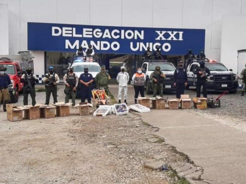 Destruyen pirotecnia decomisada durante operativo Guadalupe-Reyes