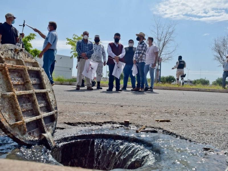 Detectan 21 puntos de riesgo por drenaje colapsado en Navojoa