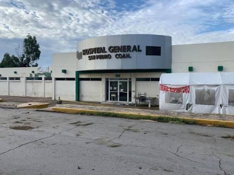 Detectan brote de Covid-19 en Hospital de San Pedro Coahuila
