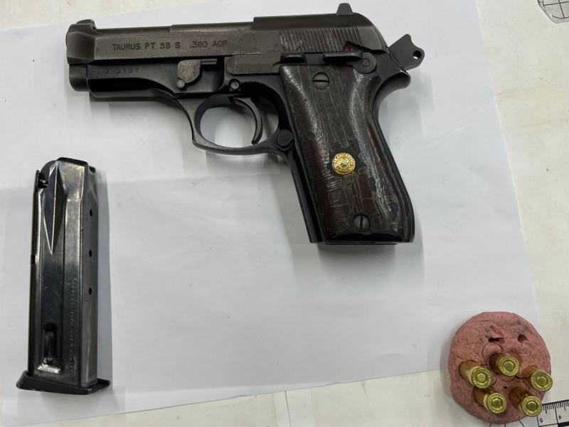 Detenido por la Policía Municipal con arma de fuego