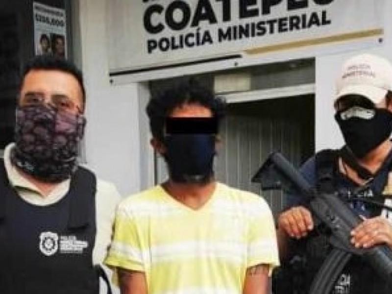 Detenido presunto feminicida de Coatepec