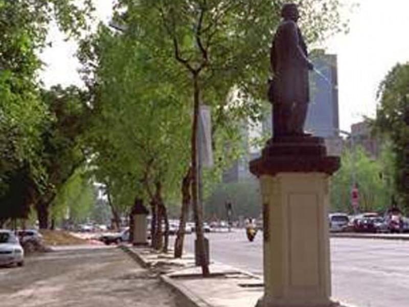 Detenido por robar estatua ubicada en Reforma