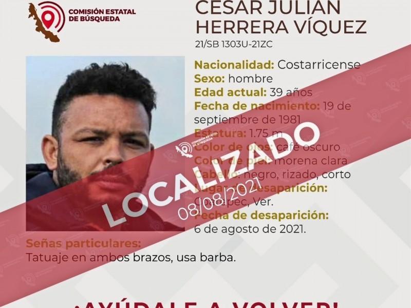 Detiene FGE a costarricense reportado como desaparecido
