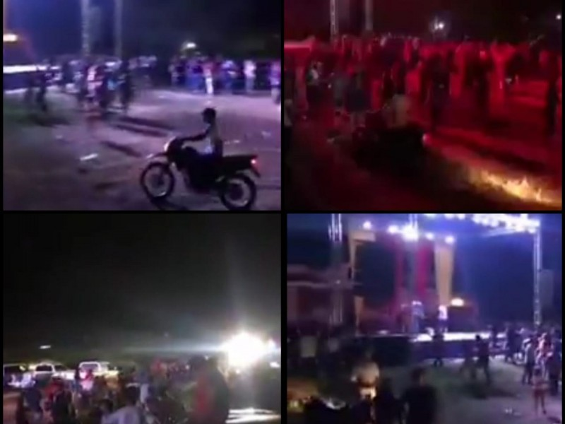 Detiene policía baile en Santiago Ixcuintla; asistentes lograron fugarse