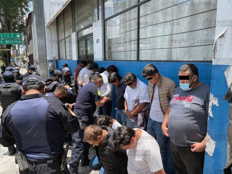 Detienen a 15 personas por disturbios en Metepec