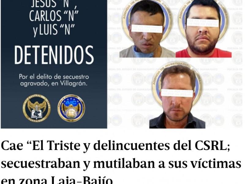 Detienen a 3 secuestradores y mutiladores del CSRL