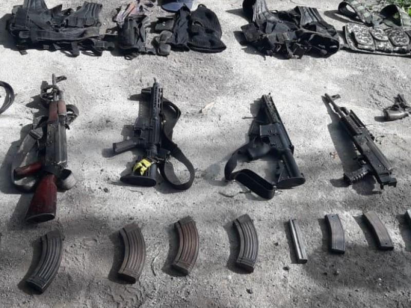 Detienen a cinco hombres armados en Cuitzeo
